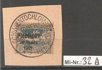 Oberschlesien Mi-Nr.: 32 sauber auf Brieftsück mit top Stempel Schwientochlowitz