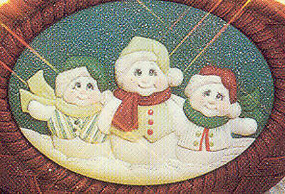Ceramic Bisque Ready to Paint Snowmen insert ~FREE SHIPPING in USA