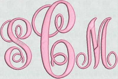 Monogram Machine Embroidery Design (SALE Machine Embroidery Designs Gorgeous Monogram Elegant Fonts 104 File 4 sizes )