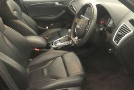 Black AUDI Q5 4X4 2.0 TDI Diesel QUATTRO S LINE S-T FROM £109 PER WEEK!