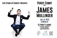 Live Stand-up Comedy presents James Mullinger Live at the Delta.