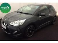 £175.39 PER MONTH CITROEN DS3 1.6 AIRDREAM DSTYLE PLUS 3 DR DIESEL MANUAL