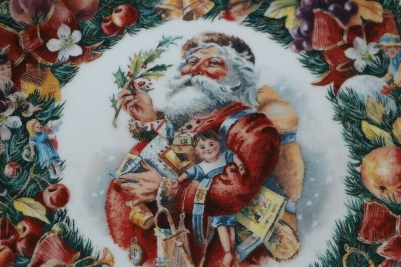 For sale a beautiful richly detailed Royal Doulton Christmas Wishes Plate from 1