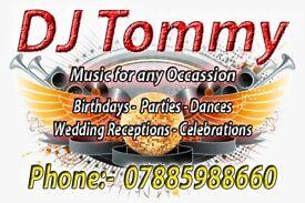 DJ Hire - DJ Tommy - Garden Parties, Weddings, Functions, Birthdays