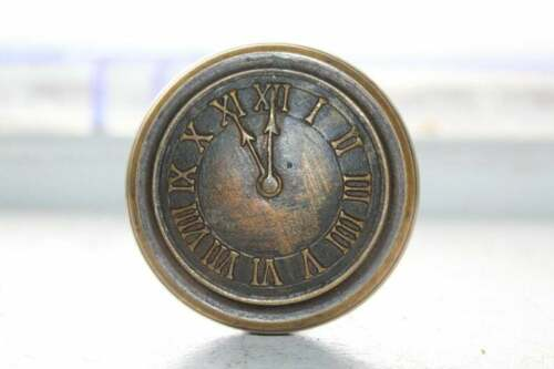 Antique Elks Lodge Doorknob Clock Face 11th Hour Architectural Salvage