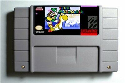 Super Mario World The Second Reality Project rom hack custom SNES game cart
