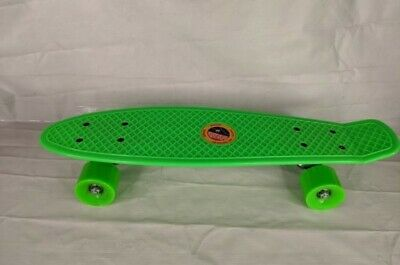 "22"" Plastic Deck Street Skateboard Retro Wave Cruiser Banana penny board green"