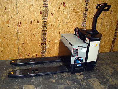6000lb Crown Pw3520-60 Electric Battery Pallet Jack Barely Used Only 2 Hours