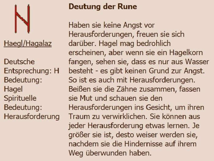 H = Haegl/Hagalaz