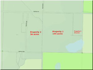 220  Acres in Alberta, 3-titles, backing onto a wetland reserve.