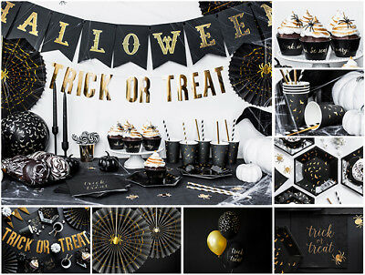 Halloween Trick or Treat Party Supplies Tableware Banners Mask Decoration Packs - Halloween Mask Paper Plate