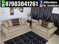 ** 25% off **GLP Corner Or 3+2 Seater Sofa in Crush Velvet / Fabric