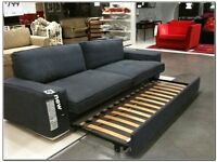 IKEA Sofa bed, £20, quite tatty but still fully functional.