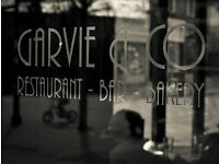 Chef De Partie & Commis Chef Vacancies at Garvie & Co, Milngavie.