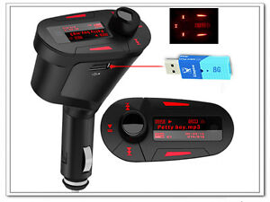 Red-Car-Kit-MP3-PLAYER-with-Audio-FM-Transmitter-Remote-Royal-Mail-1st-class