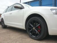 14 inch black alloys with tyres!