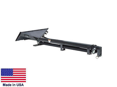 Telescoping Boom Jib Hoist For Skid Steer Loaders - 9 Ft To 21 Ft - Hydraulic