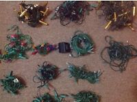 BUNDLE Christmas Lights Xmas Fairy Festive Novelty Tree String NOT WORKING