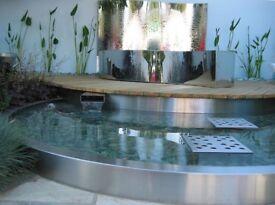 Bespoke stainless steel pool from RHS award winning show garden