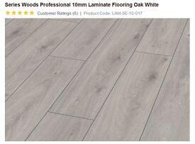 10mm Laminate Flooring Oak White - 7 packs (9.1 sqm)