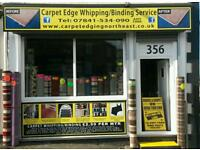Carpet Binding, Carpet Whipping, Carpet Edging IN NEWCASTLE ,IN SUNDERLAND,IN DURHAM,IN NORTH EAST.