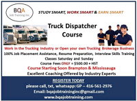 DISPATCHER COURSE JOIN ANY DAY 6 TO 8PM & WKENDS 9AM TO 12
