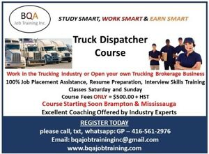 STARTING SOON ON  WEEKENDS - TRUCK DISPATCHER COURSE - REGISTER