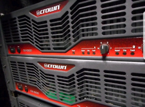 Crown CE1000 Power Amplifiers. 2 Available