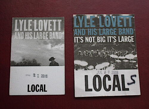 2 Lyle Lovett backstage crew passes 2008 and 2010