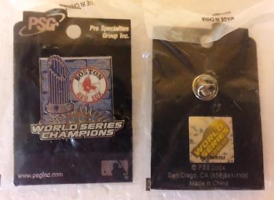 2004 BOSTON RED SOX WORLD SERIES CHAMPIONS PIN PSG COLLECTORS LAPEL ~ NEW