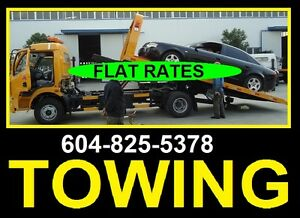 **TOW TRUCK**(TOWING)-604-825-5378**FLAT RATES**