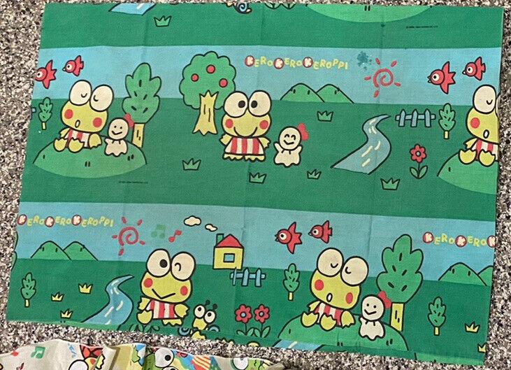 RARE Vintage 1994 Kero Kero Keroppi Sanrio Co. Japan Green Pillow Case