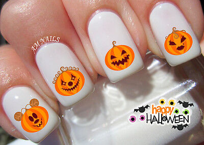 Pumpkin Nail Art Stickers Transfers Decals Set of 50 (Pumpkin Art)