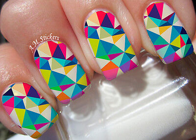 Mosaic A1024 Nail Art Stickers Transfers Decals Set Of 22