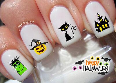 Halloween Nail Art Stickers Transfers Decals Set of 42 (Art Halloween)