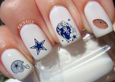Dallas Cowboys Nail Art Stickers Transfers Decals Set of 38