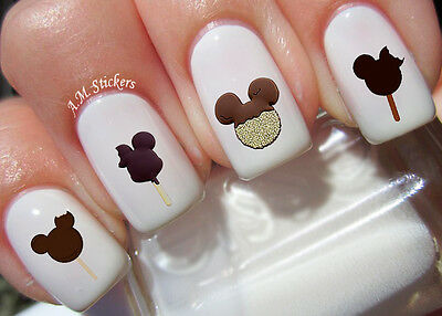 Mickey Ice Cream Nail Art Stickers Transfers Decals Set of 53