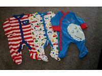 3x 0-3 Mini Club Sleepsuits