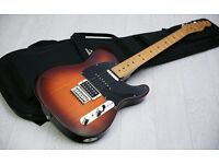 MINT! Fender Modern Player Telecaster Player Plus Honey Burst & Gig Bag