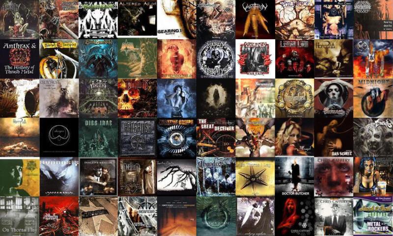 60 used METAL CD