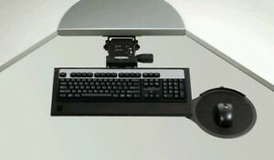 NEW ERGOTECH Ergonomic Computer Keyboard Tray Mouse Pad Articulating Under Desk