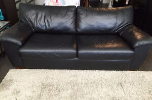 Leather Queen Sofa Bed 990$