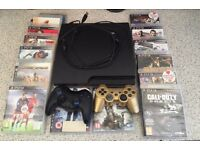 PS3 Slim 160GB with 15 games