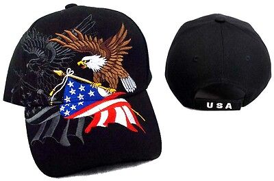 USA Eagle  & US Flag Baseball Caps Hats Embroidered    ( CapUS50 ^*) ()