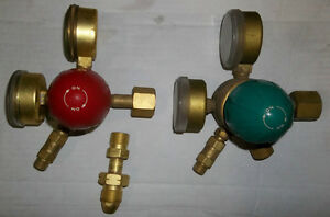 PAIR OF AIRCO  OXYGEN - PROPANE & ACETYLENE REGULATORS