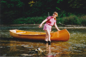 White Cedar Strip Square Stern Canoe