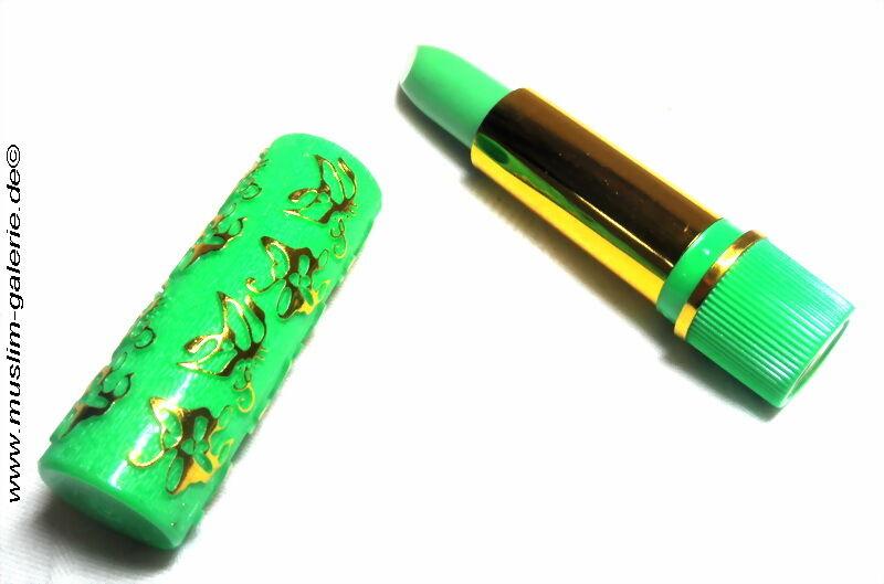Magic Zauber Stift Lippenstift Lipstick Grün *wird Rosa bis Rot nach pH-Wert*