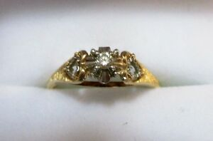 Vintage 14K Gold with Diamond Promise Ring