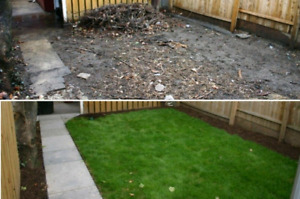 SOD INSTALLATION $0.95 SF MATERIALS AND LABOR