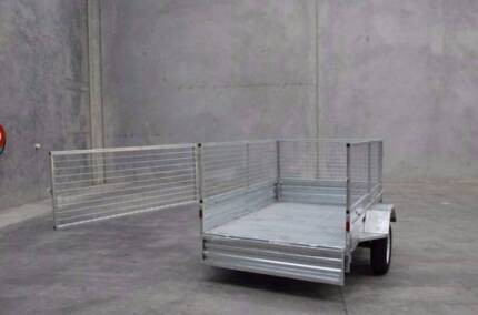 BEST PRICE GUARRENTEE! 7x4 Gal Trailer with Cage